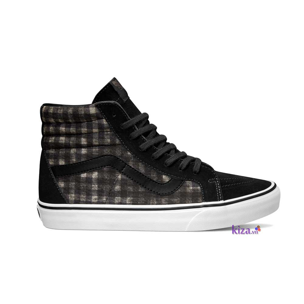 giay-Vans-Classics-SK8-Hi-Reissue-Distressed-Plaid-black