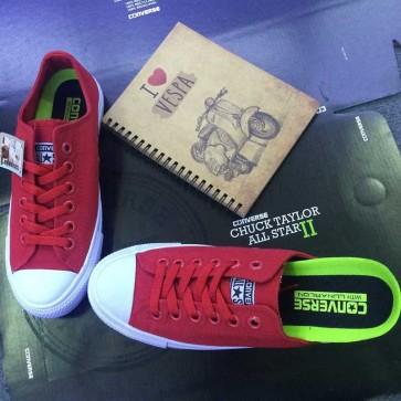 Giày converse chuck taylor 2 màu đỏ cổ thấp aa