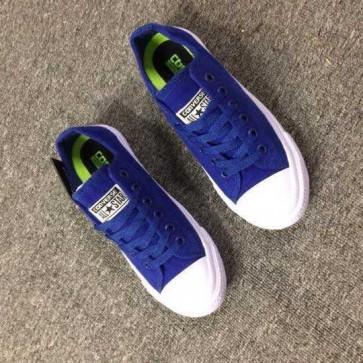 Giày converse chuck taylor 2 màu xanh dương cổ thấp  55