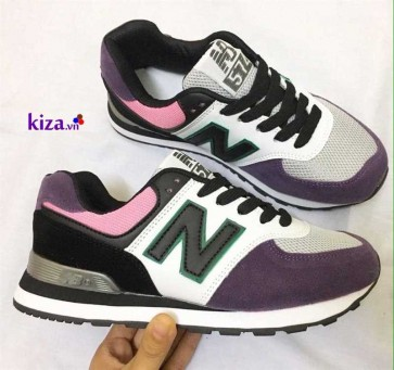 Giày new balance 574 màu tím đẹp