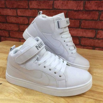 Giày nike air force one trắng full cổ cao 002
