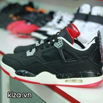 Giày Nike Jordan 4 phối màu đen đỏ 002