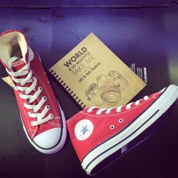 Giày Converse Classic cao cổ màu đỏ tươi 111