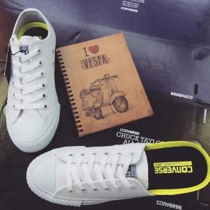 Giày converse chuck taylor 2 màu trắng cổ thấp 44
