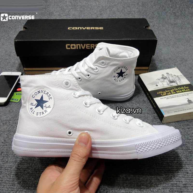 Giày converse chuck taylor 2 màu trắng cổ cao 3