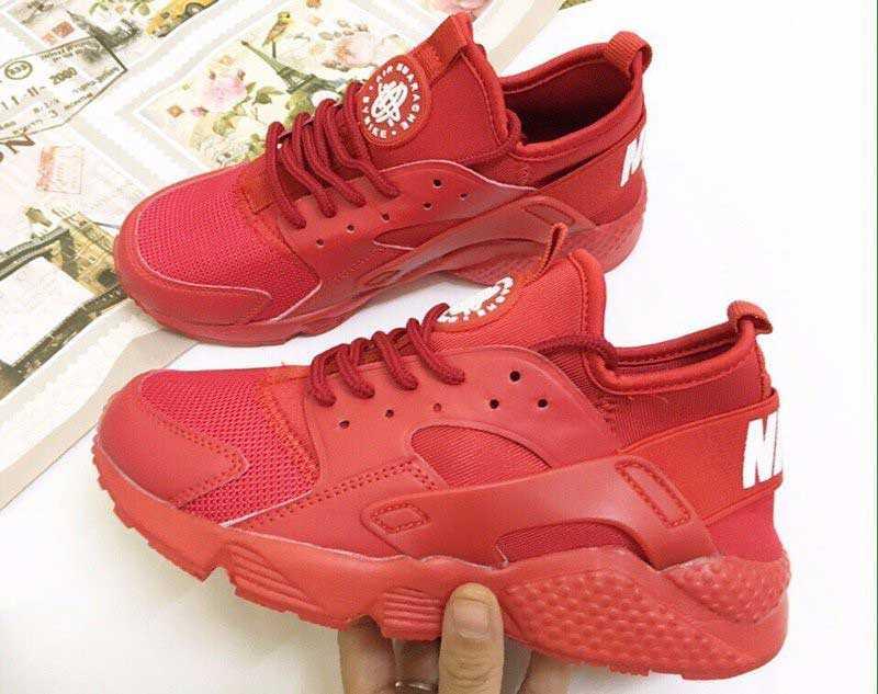 Giày Nike Huarache đỏ full 001