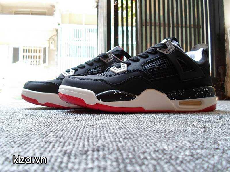 Mua Giày Nike Jordan 4 phối màu đen đỏ 2