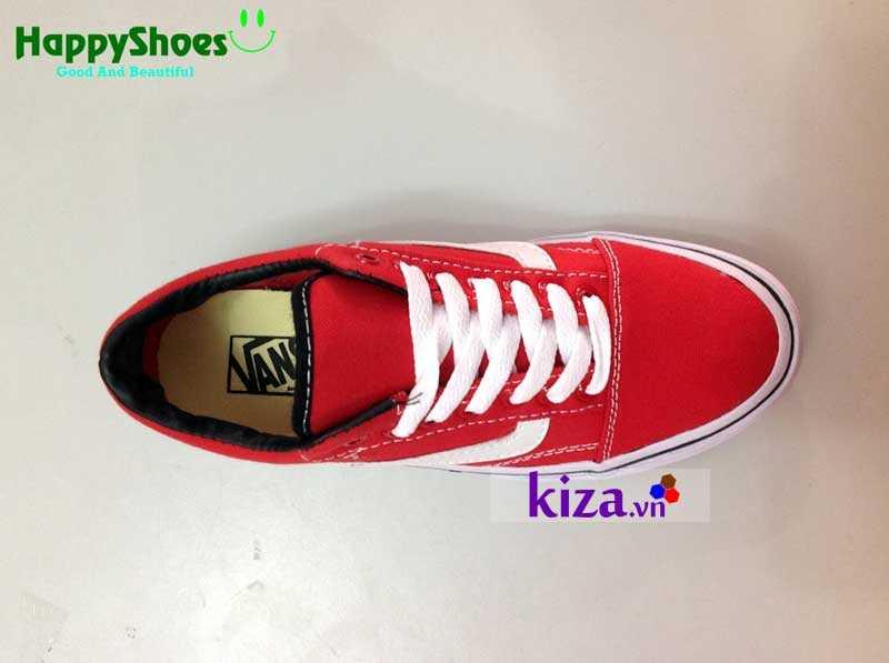 Giày Vans Old Skool phối màu đỏ trắng 9