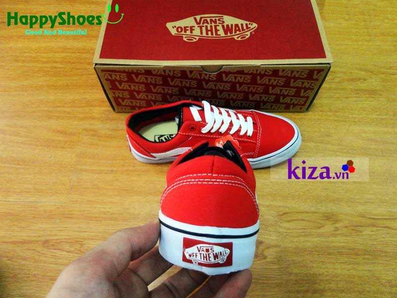 Giày Vans Old Skool phối màu đỏ trắng 6