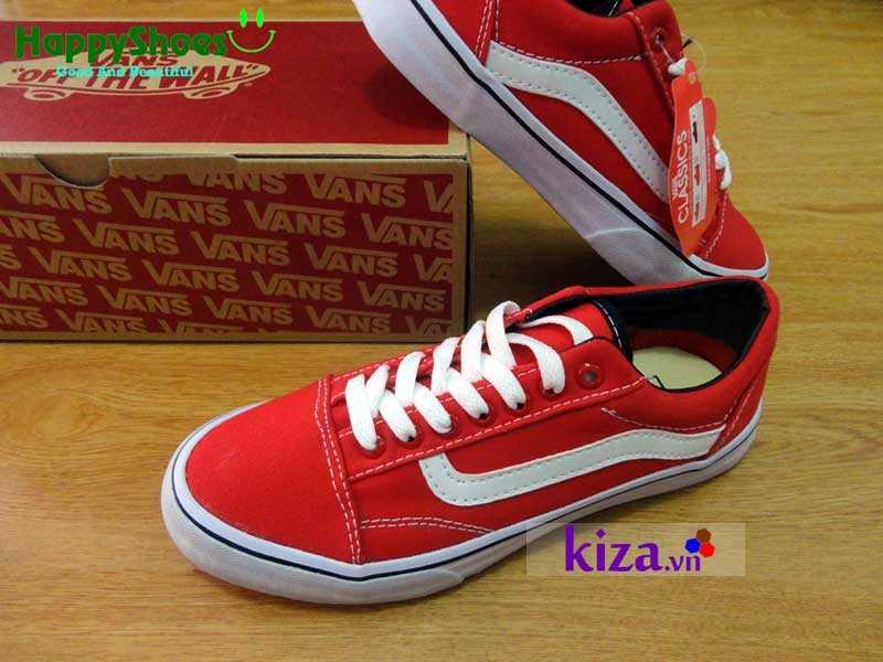 Giày Vans Old Skool phối màu đỏ trắng 8