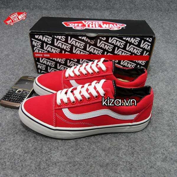 Giày Vans Old Skool phối màu đỏ trắng 3