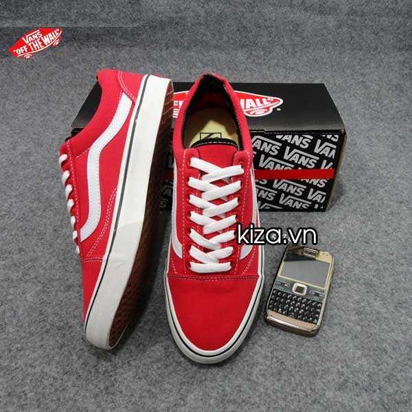 Giày Vans Old Skool phối màu đỏ trắng 1