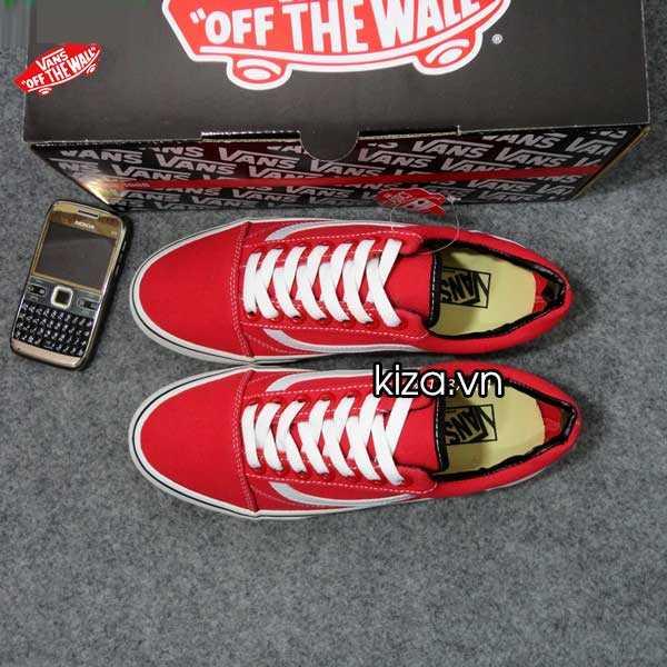 Giày Vans Old Skool phối màu đỏ trắng 5