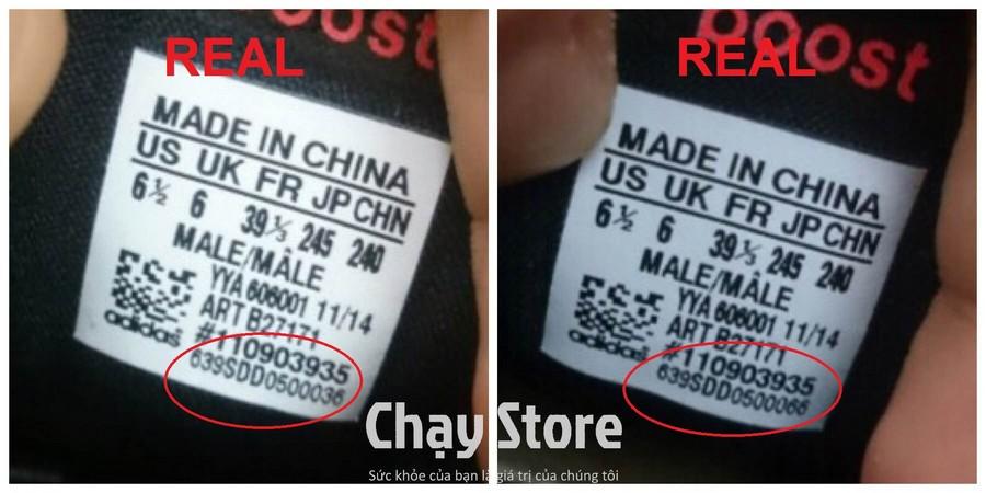 Mã sản phẩm của chiếc bên trái và bên phải khác nhau