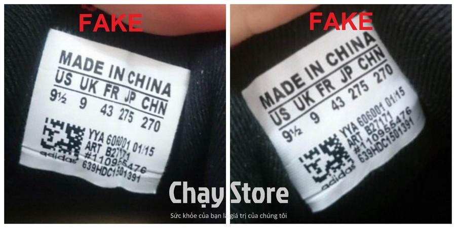 Tem của đôi giày fake (Nguôn : chạy store)