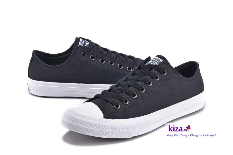 Giày converse chuck 2 màu đen thấp cổ