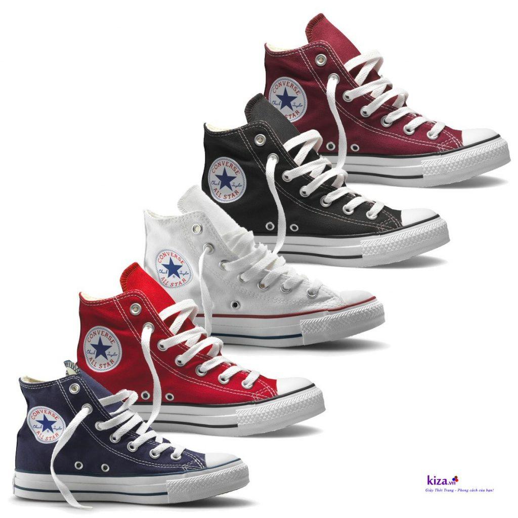 Mix đồ với giày Converse cổ cao với nhiều màu sắc khác
