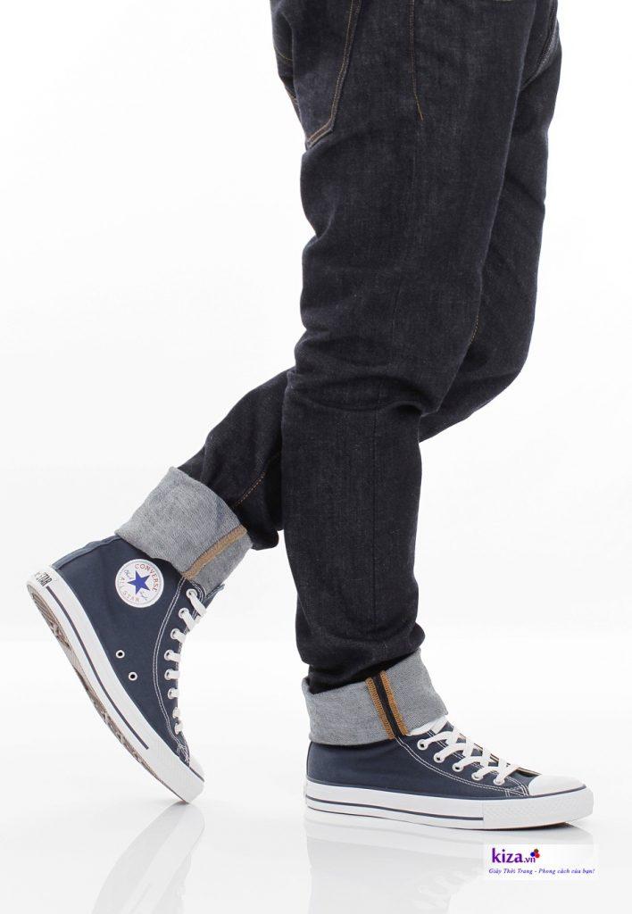 Giày Converse cổ cao Navy nam
