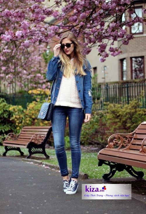 giày converse với quần jean