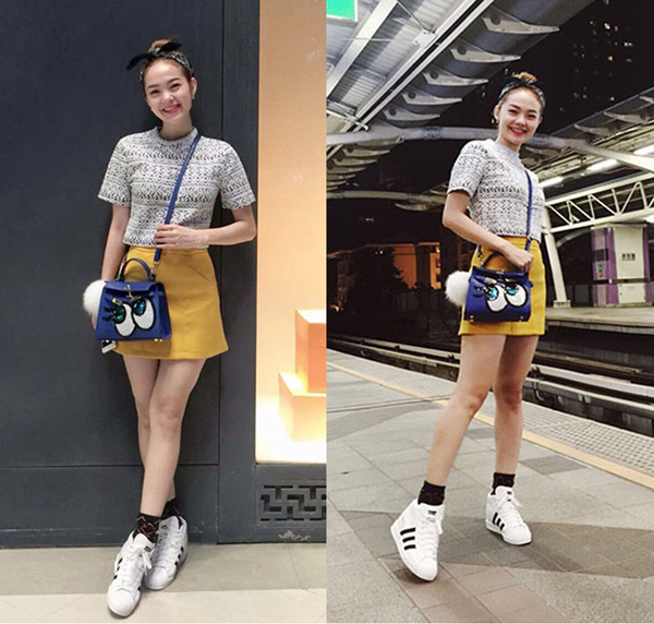 Trẻ trung, nữ tính cùng giày thể thao Adidas