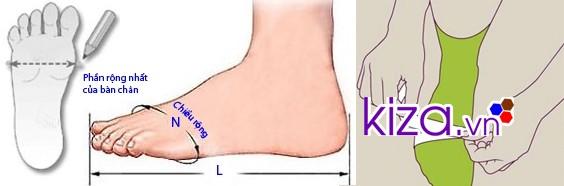 Dùng thước dây đo độ rộng của chân để chọn giày Converse