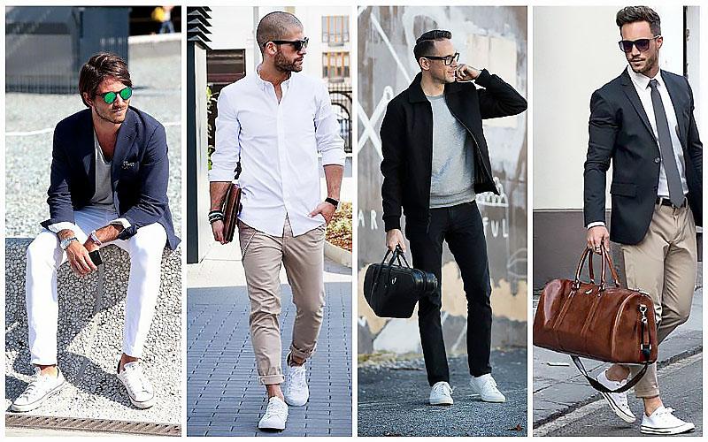 Màu giày converse dễ phối đồ - mix đồ với converse trắng nam