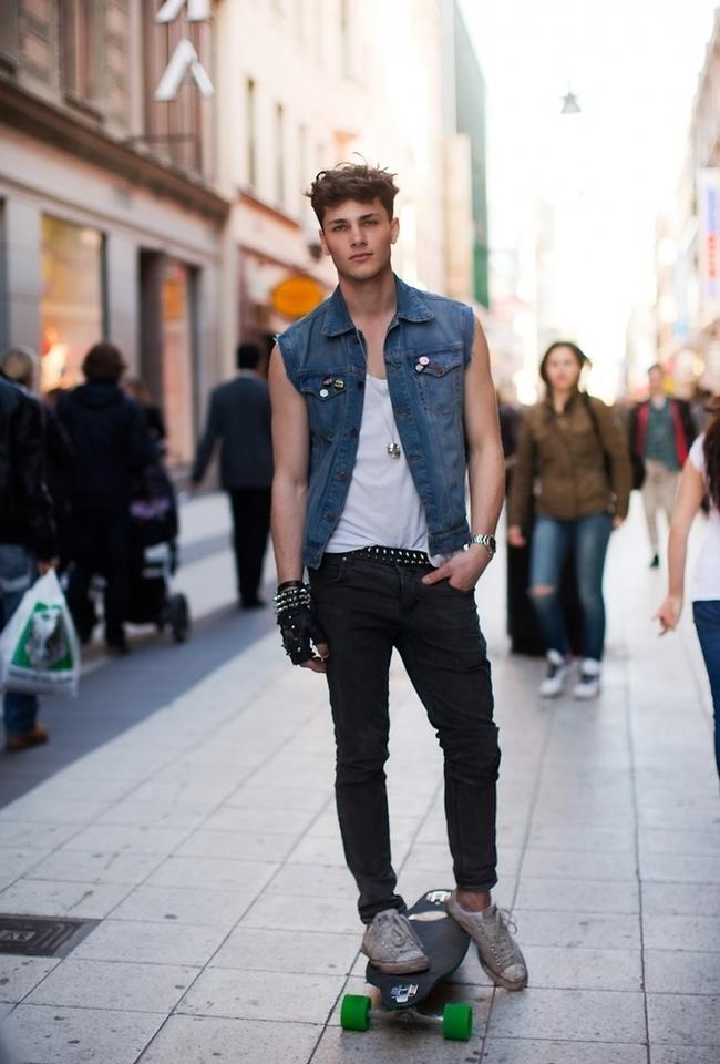 Cách mix đồ nam với giày converse phong cách bụi bặm