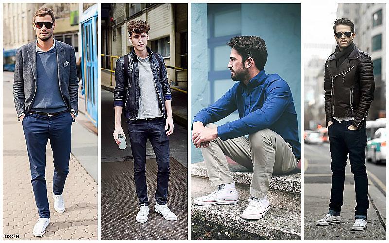 kết hợp trang phục với giày converse