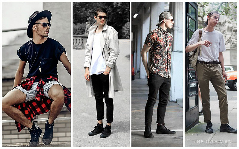 cách phối đồ nam với giày converse đơn giản