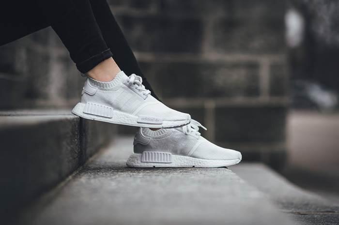 Giày Adidas nữ NMD trắng