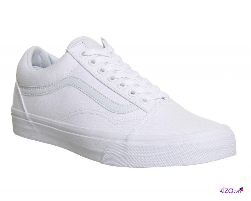 Vans nữ all white - đôi giày đang được săn lùng nhiều nhất