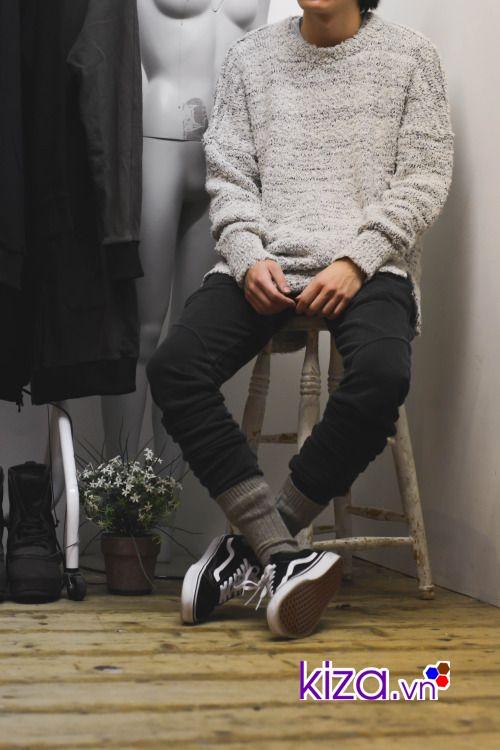 Ấm áp khi mix giày Vans cùng áo sweater