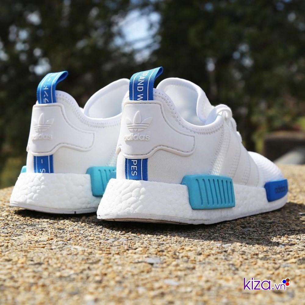 Adidas NMD trắng xanh mang tinh thần tự do, ưa khám phá