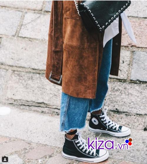 Thời trang cùng giày Converse và quần cắt ống lửng