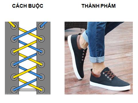 Các kiểu buộc dây giày converse đẹp