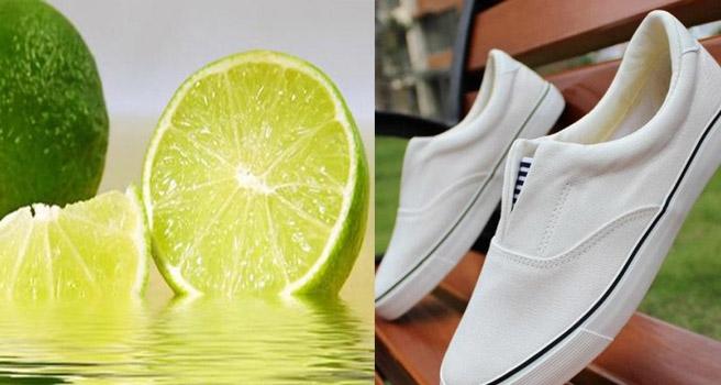 Dùng chanh như là cách làm trắng giày vải