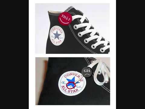 Cách nhận biết giầy converse thật giả qua tem