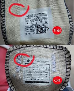 Kiểm tra giày converse chính hãng qua tem