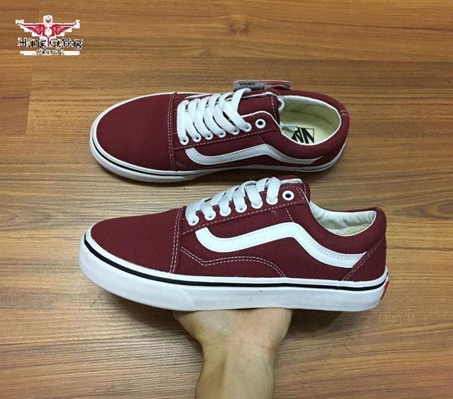 Giày vans old skool màu đỏ mận