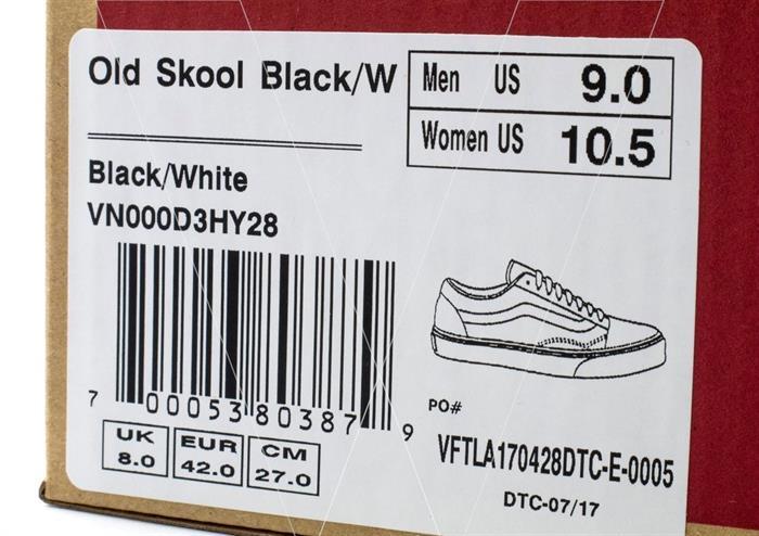 cách nhận biết giày vans chính hãng qua hộp giày