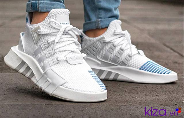 Giày Adidas nữ Eqt trắng xanh
