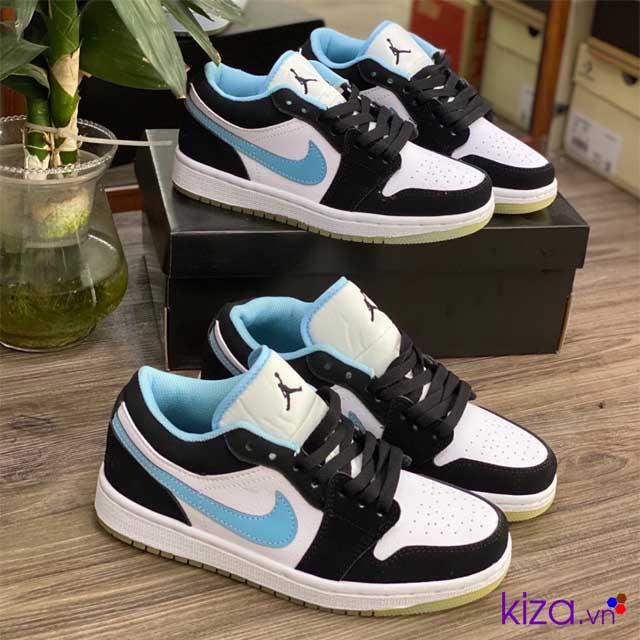 Jordan 1 low đen xanh