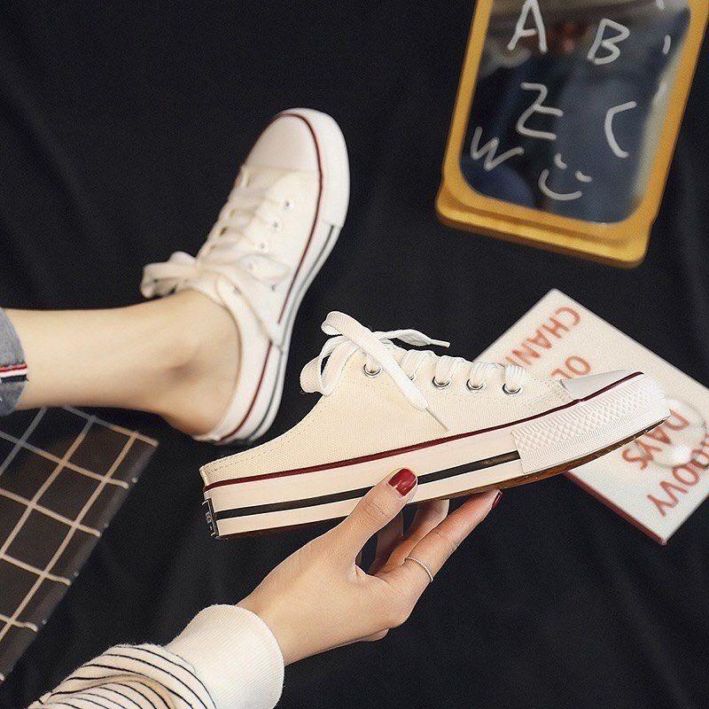 Giày sục converse nữ trắng
