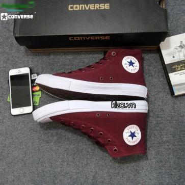Giày converse chuck taylor 2 màu đỏ mận cổ cao 11