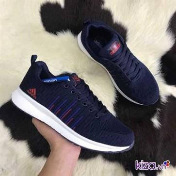Giày Adidas NEO màu xanh navy kẻ sọc 002