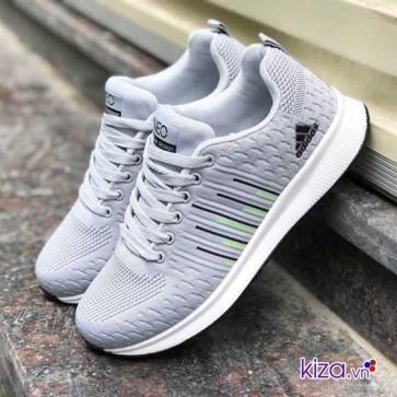 Giày Adidas NEO màu xám kẻ sọc giá rẻ 003
