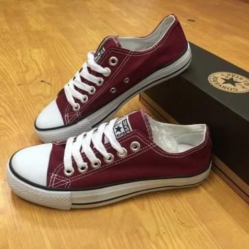 Giày Converse Classic Thấp Cổ Màu Đỏ Mận  444