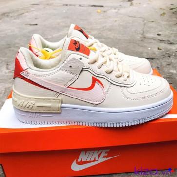 Giày Nike Air Force 1 shadow trắng hồng