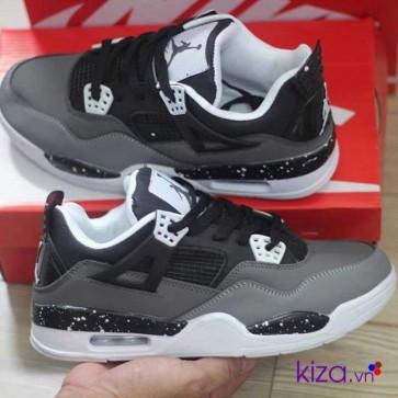 Giày Nike Jordan 4 phối màu xám đen 4