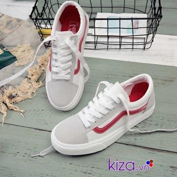 giày vans old skool trang vien do 002